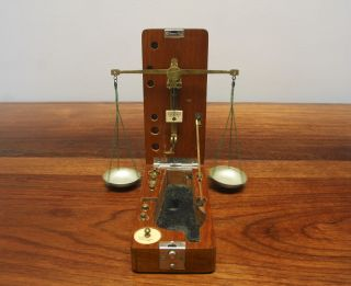 H Kohlbusch York (circa 1900) Portable Wood Jewelers Scale 6