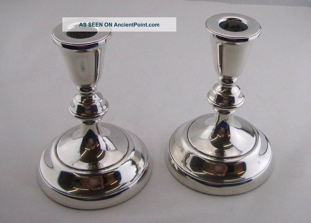 Stylish Vintage Silver Candle Sticks (5.  5