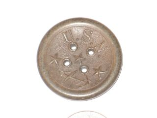 Antique Novelty Button Co 1851 York Goodyear ' S Patent Us Navy Anchor 1.  38