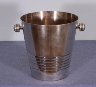 Vintage French Silver Plated Champagne Bucket (k) photo