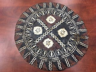 Tapa Cloth Tonga Old Old Tapa Cloth Museum Quality Round Tapa Cloth photo