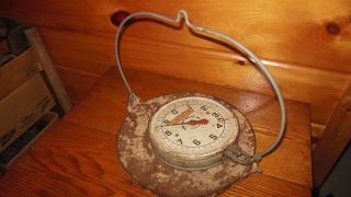 Vintage Hanging Scale With Tray / Penn Scale Co.  Philadelphia / 20 Lbs. photo