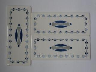 3 C 1910 School Of Josef Maria Olbrich Tile 8 X 3 1/8