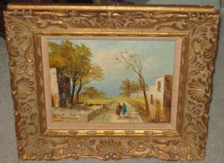 Signed By Artist Oil Painting Collectible Art Framed Approx.  15