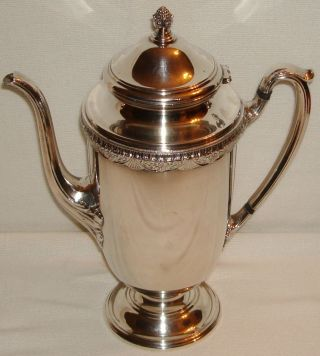 Antique First Love 1847 Rogers Bros.  Is Silver Plate Coffee Pot Rare 9501 Tea photo