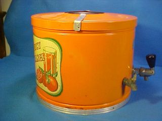 Old Vintage Juicy Orange Kool Aire Soda Fountain Syrup Dispenser Graphics photo