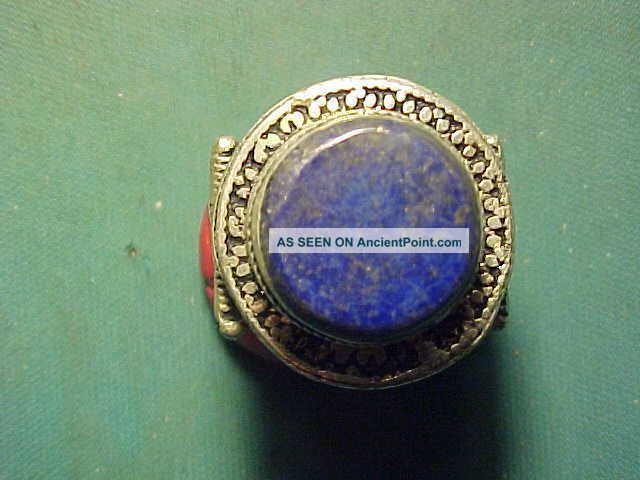 Near Eastern Hand Crafted Ring,  Lapis Lazuli Stone Circa 1700 - 1900 Near Eastern photo