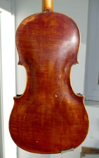 Old Interesting Violin J.  Hellmer Prague 1862 photo