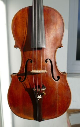Very Old Interesting Violin With Baroque Neck Anton Fischer In Wien photo