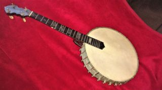 Antique J.  E.  Quinlan 5 - String Banjo / Banjaurine photo