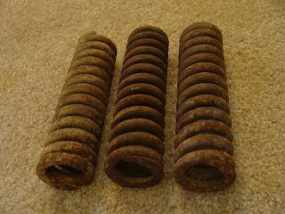 3 Vintage Metal Industrial Coil Springs Machine Age Rusty Steampunk Art 7
