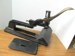 Old Booklet / Flat Stapler Industrial Letterpress Print Shop Machine Acme No.  1 photo