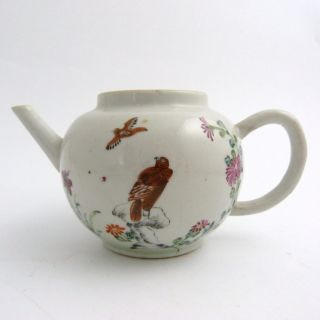 18th Century Chinese Porcelain Export Ware Teapot,  Eagle On Rocks photo