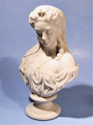 J & T Bevington Parian Ware Bust Of Juliet Antique Victorian Statue J&tb England photo