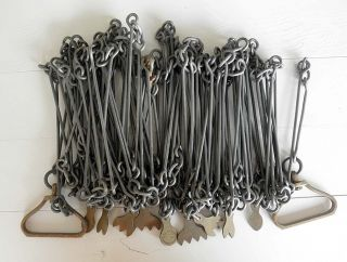 A Desirable 66 Foot Steel Land Surveyor Chain By Chesterman,  Early 1900s photo