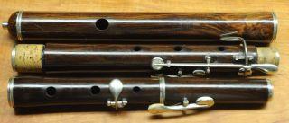 Maison Souchette,  Anger France,  5 - Key Antique Wooden Flute photo