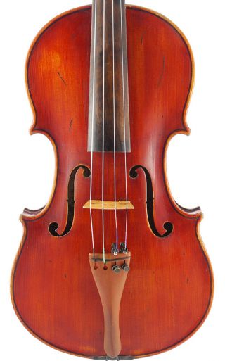 Rare - Hagbart Enger,  Antique 4/4 Old Labeled Violin photo