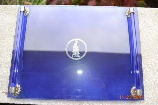 Art Deco Cobalt Blue Diana The Hunter With Borzoi Dresser Tray Or Plateau photo