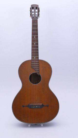 Old Antique Parlour Parlor Vintage Acoustic Or Classical German Guitar photo