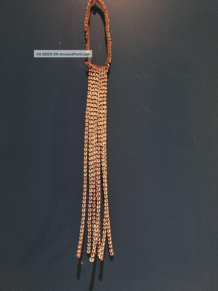 Asmat Nassa Shell Bride Necklace Primitive Tribal Art Papua Guinea 7 Strands Pacific Islands & Oceania photo