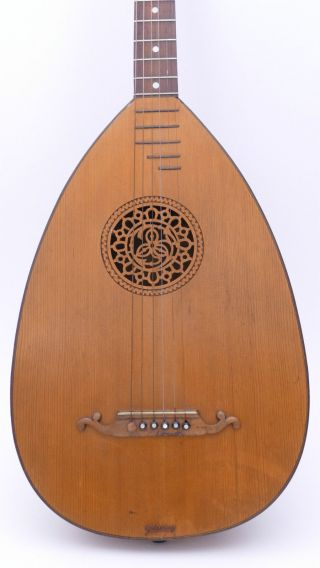 Goldklang Antique Art Nouveau German Old Lute Luth No Guitar Mandolin Violin photo