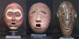 African Tribal Sculptures: 3 Masks,  Songye & Makonde,  Estt0078,  Estt0079 Est0081 photo
