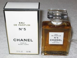 Vintage Perfume Bottle & Box Chanel No 5 Edp,  50 Ml - 1.  7 Oz - Full photo