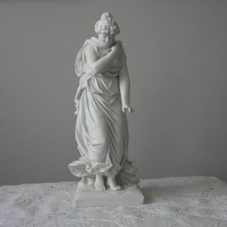 Antique Parian Statue Of A Woman photo