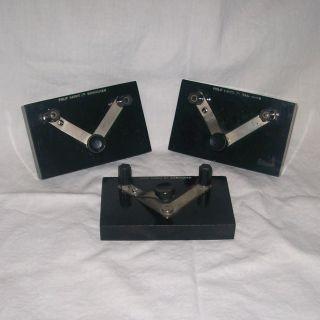 Philip Harris Ltd Vintage Bakelite School Science Lab Push Switches X 3 photo