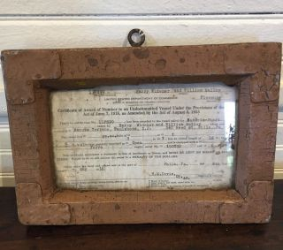 Folk Art Frame For 1936 Permit For Nj Boat photo