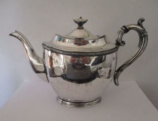 Elegant Antique Victorian Kayser Ellison & Co Sheffield Silver Plate Teapot photo