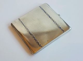 Astylish Solid Sterling Silver Cigarette/card Case 109 Grams Stamped Sterling photo