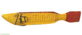 Bozo Fish Puppet Headdress Yellow Mali Africa Art 35 Inch Was $295 photo