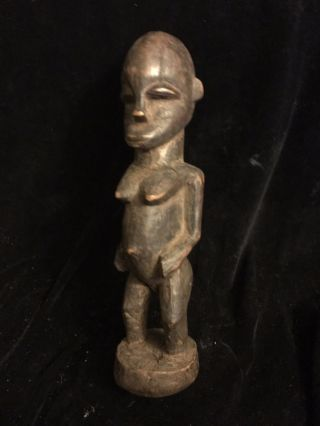 A Rare Old African Standing Woman Wood Carving,  Luba Culture Circa 1940 - 50 photo