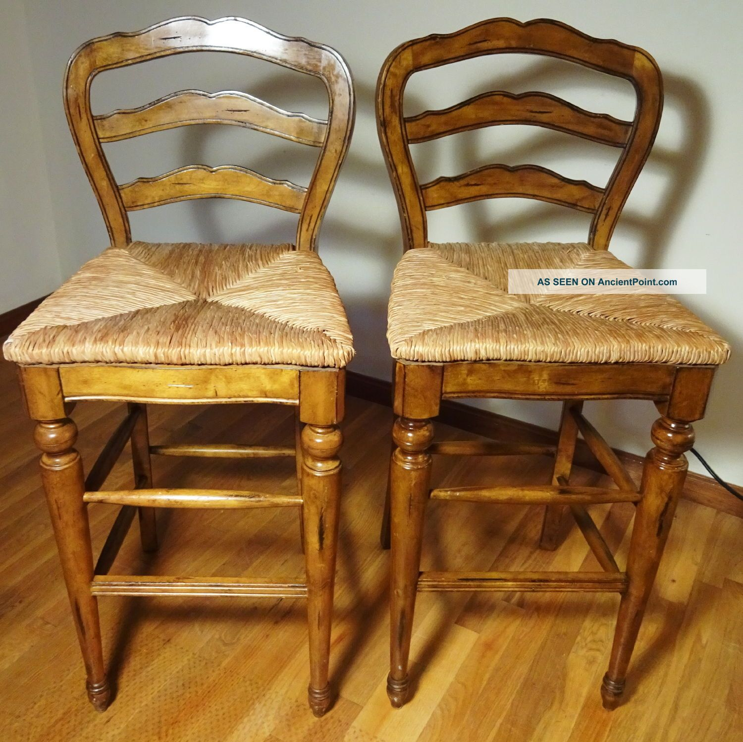 Very Impressive portraiture of French Country Counter Bar Stools Rush Seats Avignon Provincial  with #B1871A color and 1500x1497 pixels