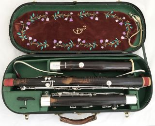 Antique Historical German Bassoon Probably Heckel Biebrich - Complete Restored photo