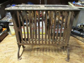 Vintage Cast Iron Broilaster Grate With Top Piece photo