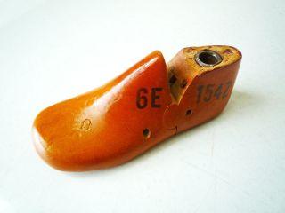 Vintage Wooden Childs Shoe Last Form 6e Krentler Bros United Last Co St Louis 1 - photo