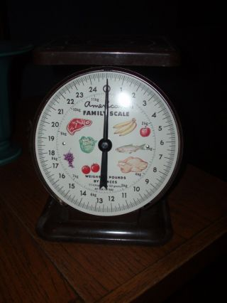 Vintage American Family Scale 25 Lb - Brown photo