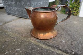 Antique Arts And Crafts Copper Handled Jug (see Pictures) photo