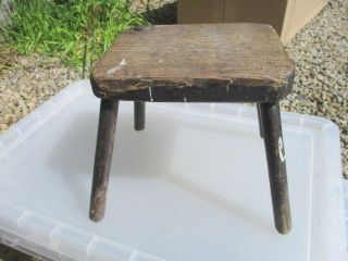 Small Vintage Wooden Stool Step Kids Children ' S Seat Old Antique 20th Century photo