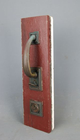 Antique Salvage Russwin Hardware Brass Front Door Entry Handle Lock Deadbolt photo
