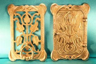 Art Nouveau Deco Solid Brass Big 10