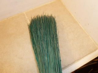Vintage Whisk Green Straw Vining? Fireplace Hearth 32