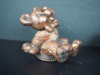 Rare Vintage Ideal Toy Company Teddy Bear Brass Industrial Metal Mold Prototype photo