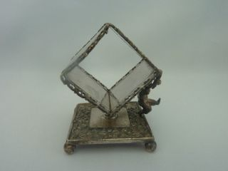Antique Victorian Meriden Silverplated Figural Cherub Napkin Ring Holder 332 photo