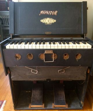 Rare Antique Bilhorn Brothers Monitor Portable Pump Reed Organ Usa photo