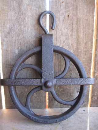 Antique Well Pulley/hay Wheel photo