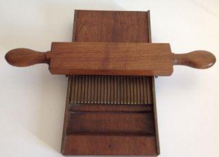 Pill Making Board Brass & Walnut Ca 1900 photo