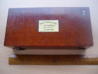 Sikes Hydrometer By Casartelli Mahogany Case photo